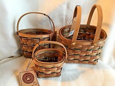 Boyds Bears Berry Baskets-Set Of 3  New **