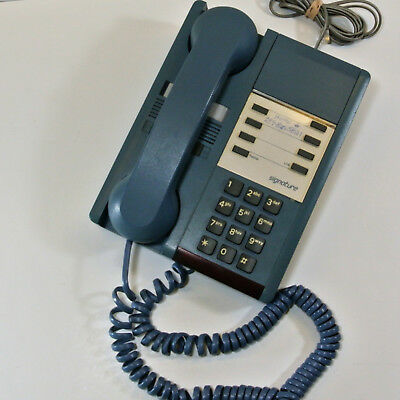 VINTAGE Northern Telecom SIGNATURE BLUE Touch-Tone Telephone 1980s Canada Works!