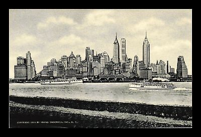 Dr Jim Stamps Us View Of New York Skyline From Governors Island Postcard