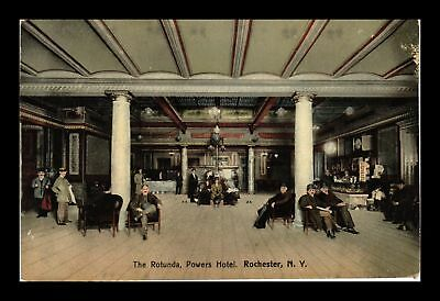 Dr Jim Stamps Us Rotunda Powers Hotel Rochester New York View Postcard