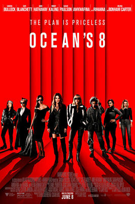 Ocean's Eight 8 - original DS movie poster - 27x40 D/S FINAL W/CREDITS