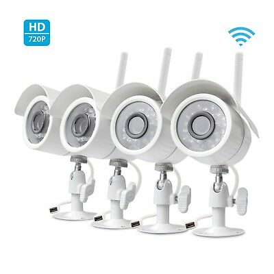 Zmodo 4 pack Wireless Home Security Camera 720 Smart IP HD IR Cut WiFi Cameras
