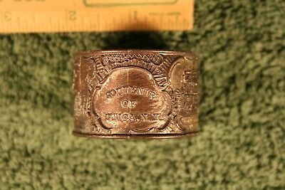 Antique Souvenir Napkin Ring, Utica, New York, over 100 years old