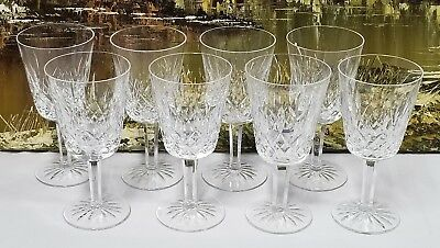 """Set of 8 Waterford Crystal LISMORE Water Goblets 6 7/8"""""""