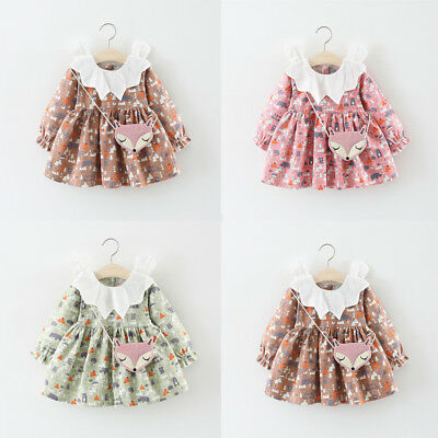 Toddler Infant Kids Baby Girls Casual Dress Princess Party Wedding Tutu Dresses