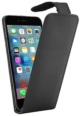 For iPhone 6 Plus / 6S Plus - Flip Down Case / Cover in PU Leather - Black