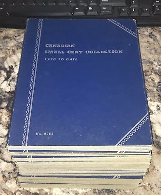 Lot of 15 CANADA/NEWFOUNDLAND Whitman Coin Albums 50s/60's FOLDERS Type Books