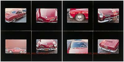 1960S Vw Karmann Ghia Car Parked On Detroit Street 35Mm Photo Slides Volkswagon