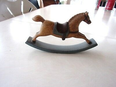 Vintage Rocking Horse Vestwood Composition Folklore Collection Blue 1982