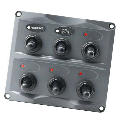 12V-24V Auto Boat Marine ^ Gang Wasserdichte Switch Panel Schalttafel