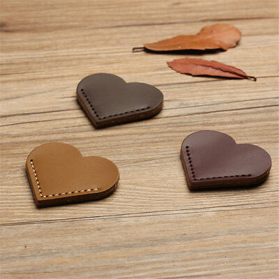 2* Love Heart Design Leather Bookmark Vintage Paper Clip Cute Book Clip Kawaii