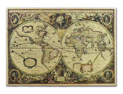 "LARGE Antique Old World MAP POSTER 71x50cm /28""x20"" WALL DECOR Vintage Geography"