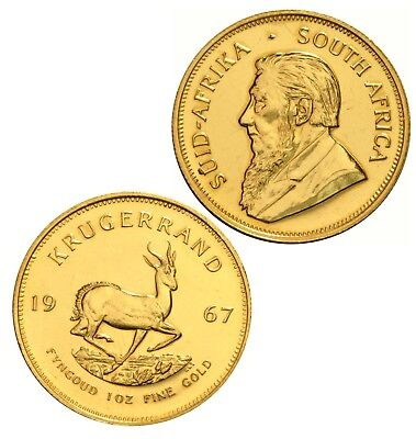 South Africa 1 oz Gold Krugerrand 1 Rand Coin 1967 Gold Color Silver 2018 2019