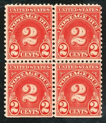 Dr Jim Stamps Us Scott J81 2C Postage Due Block Unused No Gum No Reserve