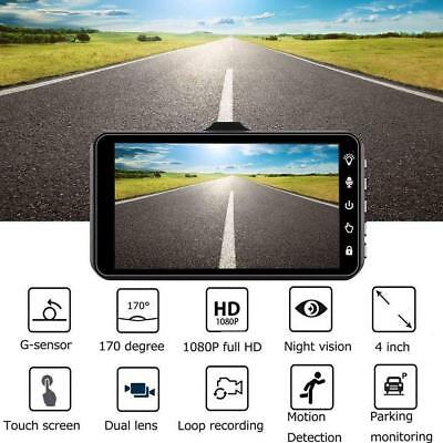 4'' 1080P Touch 170° Car DVR Video Camera Recorder Dash Cam Parking Monitor