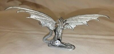 """Ral Partha / Rawcliffe """"Dragon of the Mountain"""" Pewter Dragon Sculpture #PP1223"""