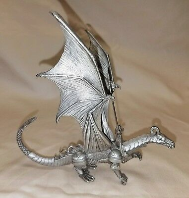 Rawcliffe Pewter - Warrior On Armored Dragon Pewter Sculpture
