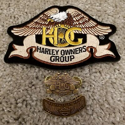 Harley Owners Group Member Pins and Patch, 30th Anniversary, 30 Years of HOG
