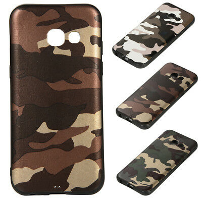 For Samsung A3 2017/A320 Camouflage Shockproof Silicone TPU Protective Cover