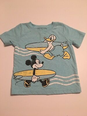 12 mo Jumping Beans DISNEY Mickey Mouse And Donald Surf Vintage Look Shirt