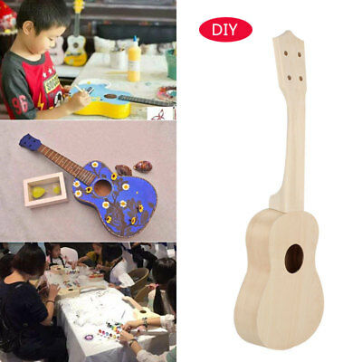 E32E Make Your Own 21'' Ukulele Soprano Guitar DIY Kit With Painting kit + Glue