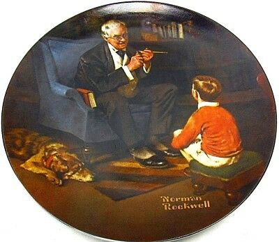 Norman Rockwell Rockwell society of America Knowles Collector Plate GUC