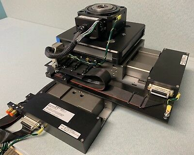 Aerotech X-Y-Theta Stage Stack / ABL10100L Air Bearing Direct Drive / ADRS 100