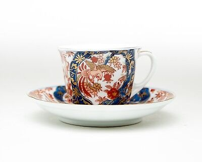 Japanese Gold Imari Hand Painted Tea Cup & Saucer Sets with Phoenix & leaves