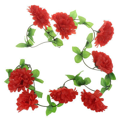 Artificial Silk Chrysanthemum DIY Hanging Garland Funeral Flower Arrangement
