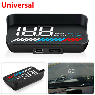 Universal Car Windshield Speed Projector MPH KMH HUD Head Up Display USB OBD GPS