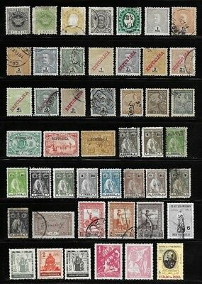 Collection of Old Stamps - Portuguese India  - - - - - - - - - - (2 pages)