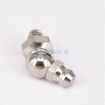 M5 To M16 Metric 45 Degree Stainless Grease Zerk Nipple Fitting For Grease Gun