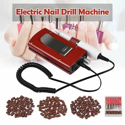 30000RPM Electric Rechargeable Cordless Nail Art Drill File Manicure Machine Red