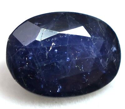 3.60 Ct Natural Purple Tanzania Iolite Gem Stone AGSL Certified Oval Top Quality