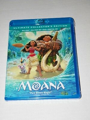 Disney Moana Ultimate Collectors Edition 3D Blu-ray, Blu-ray, DVD & Digital HD