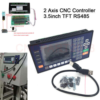 3.5 inch RS485 2 Axis CNC Controller for CNC Servo Stepper Driver Lathe Milling