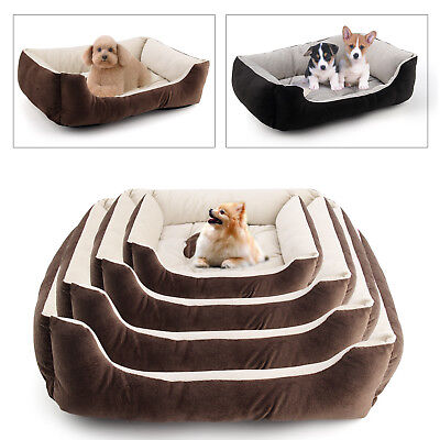 4 Size Pet Deluxe Soft Washable Dog Pet Warm Basket Bed Cushion with Cosy Basket