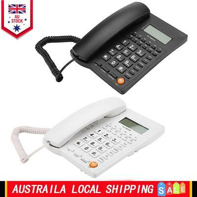 Wall Mount Landline Caller ID Desk Corded Home Office Phone Telephone LCD Mount