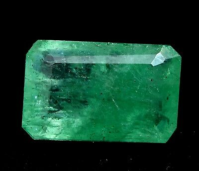 Loose Gem Stone 5.85 Ct Natural Green Colombian Emerald AGSL Certified Emerald