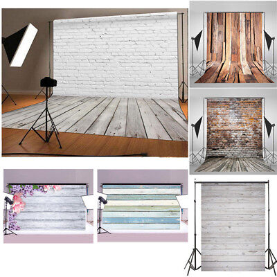 Retro Wood Plank Wall Floor Photography Backdrop Studio Photo Background R1W3