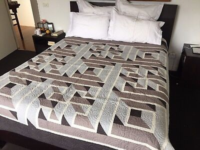 Stunning 3-D Patchwork Quilt - Large, Handmade Locally - ONLY ONE!!