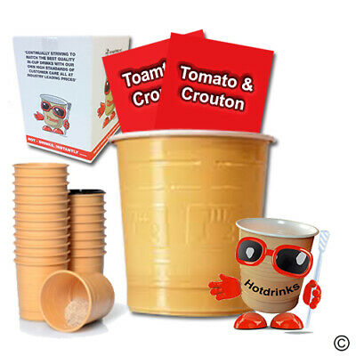 Maggi Tomato & Crouton Soup, In Cup Drinks for 73mm Vending [Sleeve of 25 Cups]