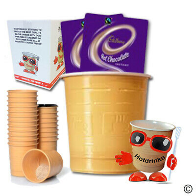 Cadbury Hot Chocolate, In Cup Drinks for 73mm Vending [Sleeve of 25 Cups]