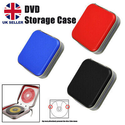 CD/DVD 40 Pcs Disc Disk Case Sleeve Wallet Holder Storage Portable Plastic Bag