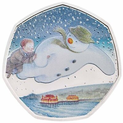 40th Anniversary of The Snowman - 2018 Silver Proof 50p Coin Royal Mint
