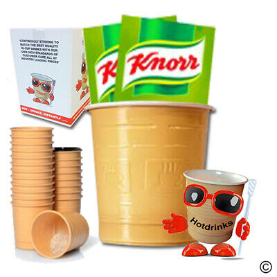 Knorr Vegetable Soup, In Cup, Incup Drinks for 73mm Vending [Sleeve of 25 Cups]