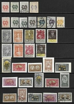 Collection of Old Stamps - Central Lithuania - - - - - - (3 pages)