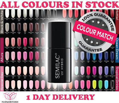 Semilac Soak off Gel Polish Uv/Led Hybrid Nails Manicure New Collection !