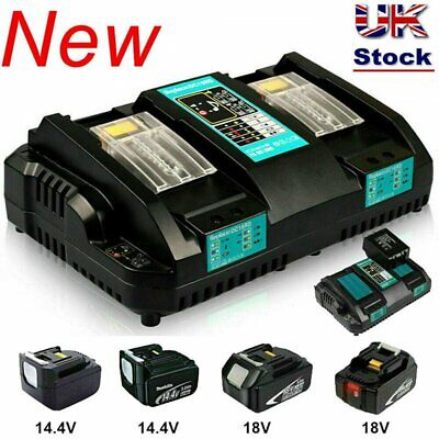 Replace For Makita DC18RD Li-ion LXT 7.2-18v Dual Twin Port Fast Battery Charger