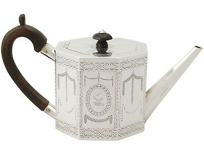 Victorian Sterling Silver Teapot by Henry Holland 560g height 14.7cm